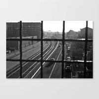 oakland Canvas Prints featuring Dirty Oakland by falsegus7