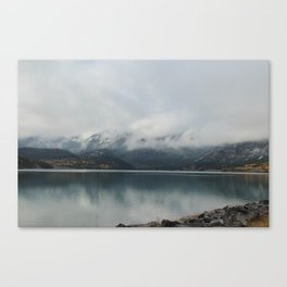 Barrier Lake in the Fog Canvas Print