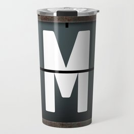 monogram schedule m Travel Mug