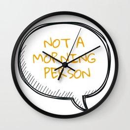 Mornings... Wall Clock