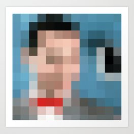 Peewee Pixels Art Print