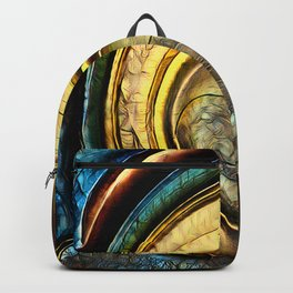 Golden Abstract 8 Backpack