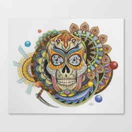 Convergence - Sugar Skull Canvas Print