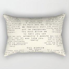 Passion of Jane Austen - Cream Rectangular Pillow