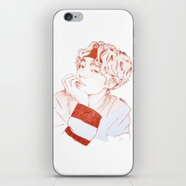 Taehyung with sanguine pencil iPhone Skin