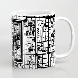 Beijing city map black and white Coffee Mug