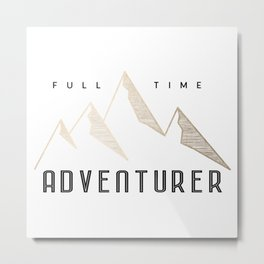 Full Time Adventurer Golden Mountains Metal Print