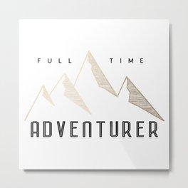 Full Time Adventurer Golden Mountains Metal Print