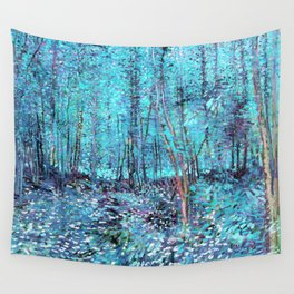 Van Gogh Trees & Underwood Turquoise & Amethyst Wall Tapestry