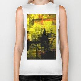 Sail Away - Abstract painting of a boat sailing into the horizon Biker Tank