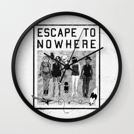 Escape To Nowhere Wall Clock