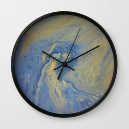 copper wave Wall Clock