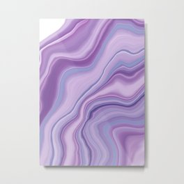 Liquid Unicorn Agate Dream #1 #pastel #decor #art #society6 Metal Print