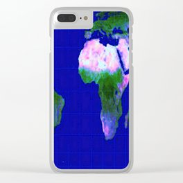 World Map : Gall Peters Clear iPhone Case
