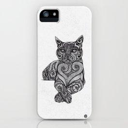Zentangle Cat iPhone Case