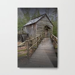 The John Cable Gristmill in Cade's Cove Metal Print