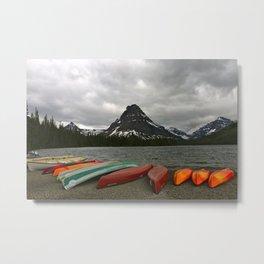 Two Medicine Lake With Sinopah Mountain Metal Print