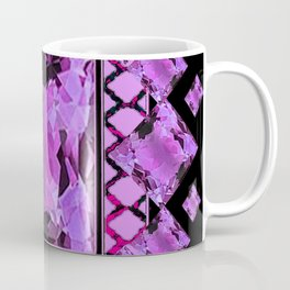 BLACK ART DECO  AMETHYST GEMS   DECORATIVE ART Coffee Mug
