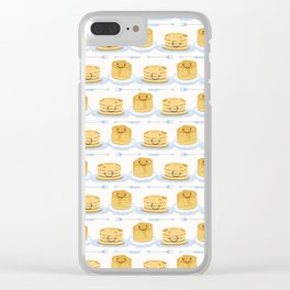 Cute vector blueberry pancake day breakfast illustration Clear iPhone Case