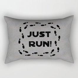 Just Run! Rectangular Pillow