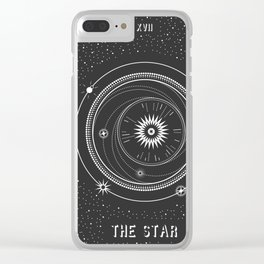Minimal Tarot  Deck The Star Clear iPhone Case