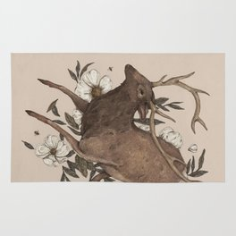 Floral Elk Rug