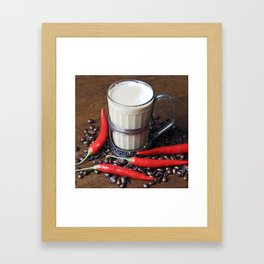 MILK COFFEE and RED CHILLI Framed Art Print