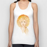 enjolras Tank Tops featuring Eyes of a leader by Elnawen