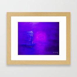 Purple Sail Framed Art Print