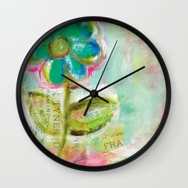 Le Bleuet Wall Clock