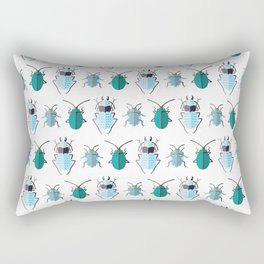 BEETLES ((turquoise, blue, chartreuse)) Rectangular Pillow