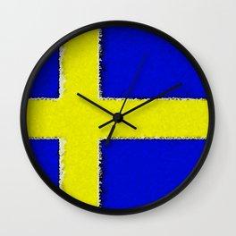 Fancy Flag: Sweden Wall Clock