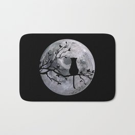 The Cat And The Moon Bath Mat