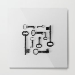 Skeleton Keys Metal Print