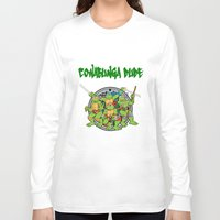 teenage mutant ninja turtles Long Sleeve T-shirts featuring Teenage Mutant Ninja Turtles  by CaitlinNicole