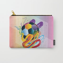 Brush strokes and soccer ball Carry-All Pouch