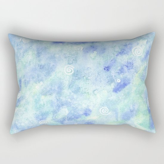 Blue lagoon Rectangular Pillow