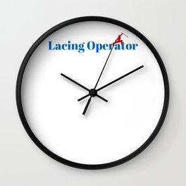 Top Lacing Operator Wall Clock