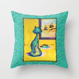 The Taunting Throw Pillow