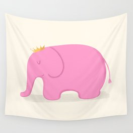 Queen Pink Elephant Wall Tapestry