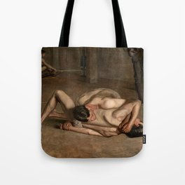 Wrestlers by Thomas Eakins Tote Bag