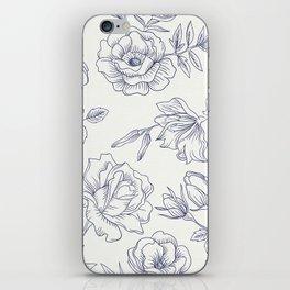 Vintage Roses x Springflowers iPhone Skin