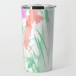 watercolor stripe Travel Mug
