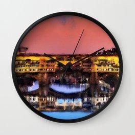 Florence, Ponte Vecchio Wall Clock