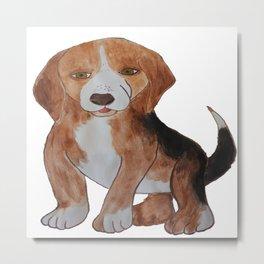 Beagle Water Color Painting Metal Print