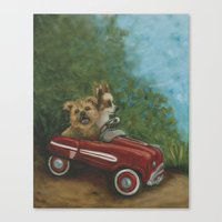grand theft auto Canvas Prints featuring Grand Theft Auto by Robin Wiesneth