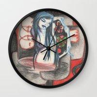 cross Wall Clocks featuring cross by sabrina.gennari