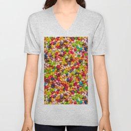 Gourmet Jelly Bean Pattern  Unisex V-Neck
