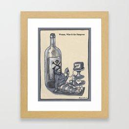 Woman, Wine & the Hangover Framed Art Print