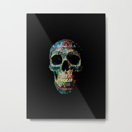 Sugar Skull Color Metal Print